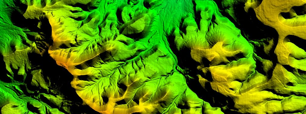 A digital elevation model, or DEM, made in house at East View Geospatial