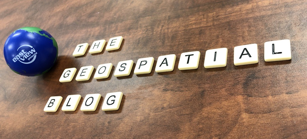 "Scrabble tiles spelling out ""The Geospatial Blog"""