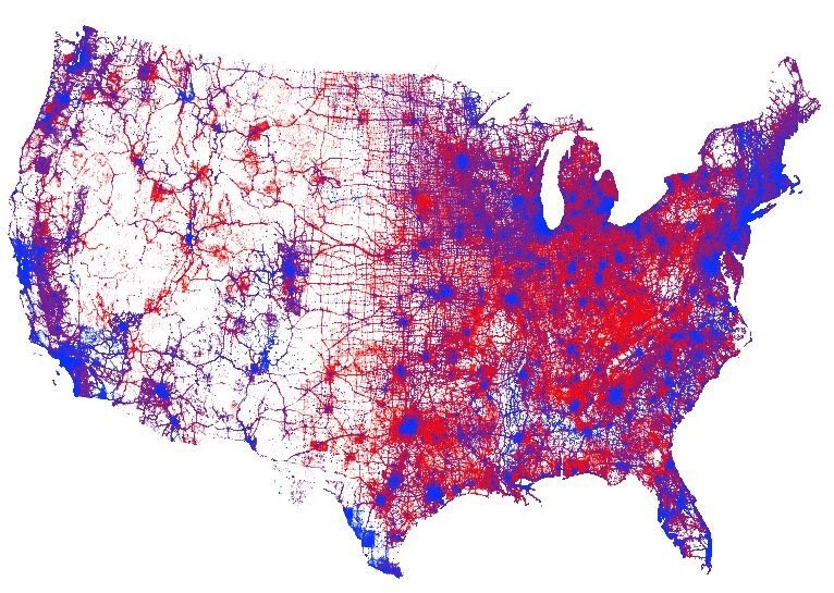 A GIS Map of Political Affiliations in the United States